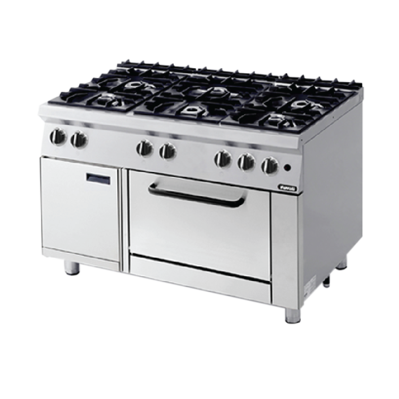 Nayati NGR 12-75 MR 06 Gas Open Burners With Oven ~ 33 Kw