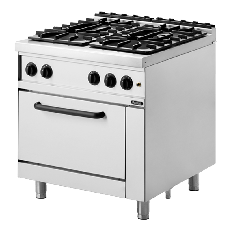 Nayati NGR 8-90 4F GR Gas 04 Open Burners With Electric Oven 48 Kw