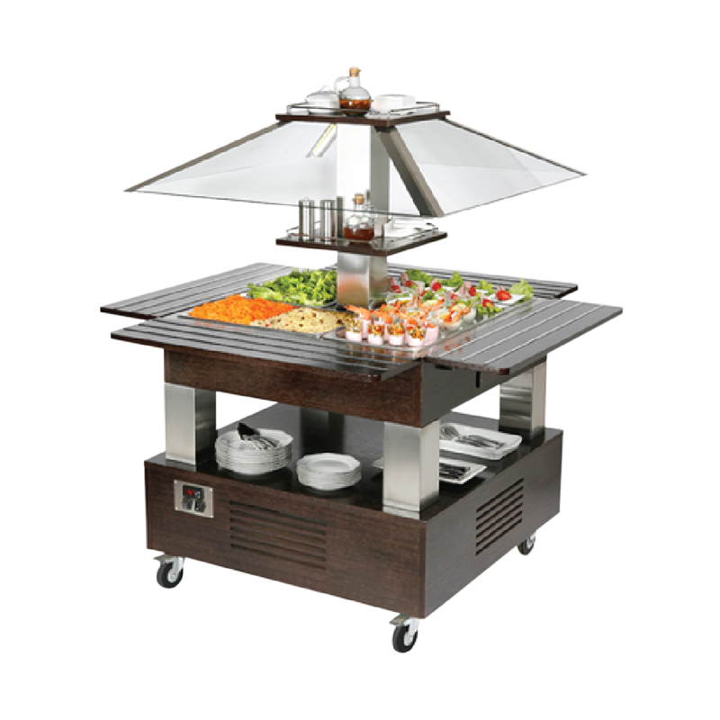 Roller Grill SBC 40 F Central Island Refrigerated Buffet